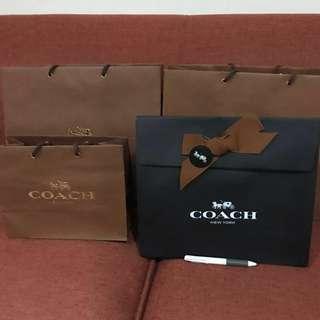 🚚 COACH購物紙袋*4