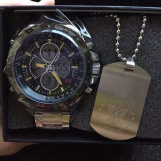 Analog and digital watch with free postage