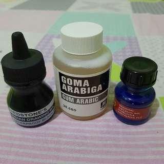 Gum Arabic & inks