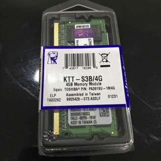 Kingston 4GB DDR3 Memory Module / RAM
