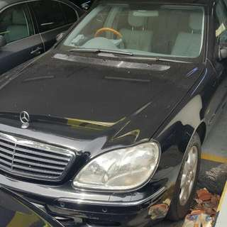 MERCEDES W220 S320 2007 TIP TOP CONDTION (BEST PRICE IN TOWN) (SGPORE SCRAP CAR)