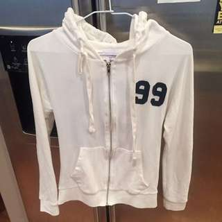 Thin Zip Up Hoodie XS-S