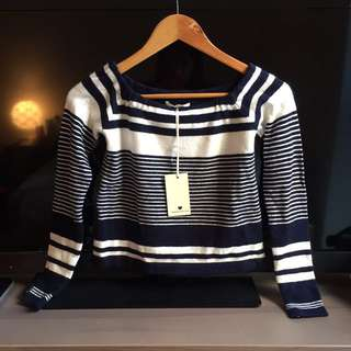 New Striped Sweater Top Small