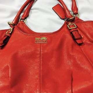Original Red Coach Handbag for sale