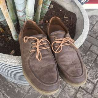 sepatu kulit coklat like new zara pull and bear adidas nike