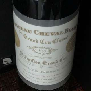 五大名酒白馬Chateau Cheval Blanc 1999 (750ml)