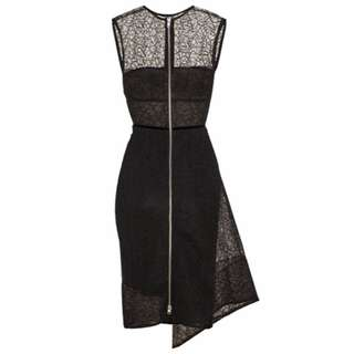 ALEX PERRY BLACK MAVEN LACE PENCIL DRESS