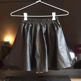 Vegan Leather Skirt Skort