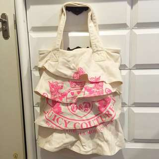 Juicy Couture frilly totebag