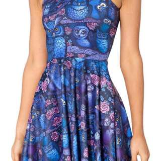 Black Milk Midnight Owl Reversible Skater Dress