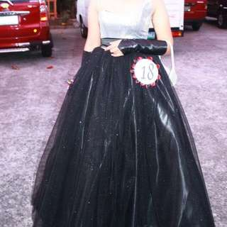 Black and Silver Ball Gown