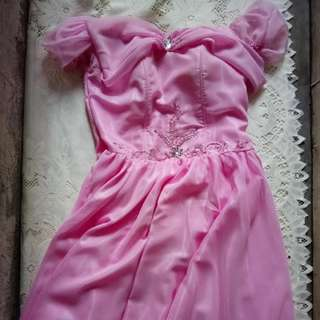 Large Pink Princess Gown