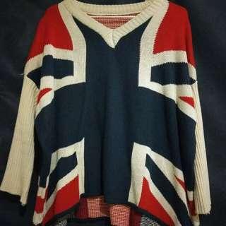 <三件九折+免運>英國國旗保暖針織毛衣
