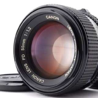 Canon FD 50mm 1.2 L f/1.2 bokeh Canon FL the brightest lens great condition