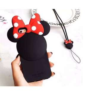 Kate Spade Minnie Mouse Rubber Case for Apple iPhone