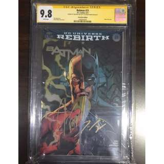 CGC SS 9.8 Batman #21 C2E2 Convention Foil Variant Signed by Tom King & Jason Fabok