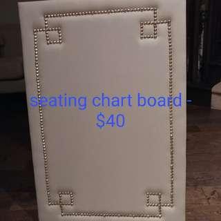 seating chart/photo board