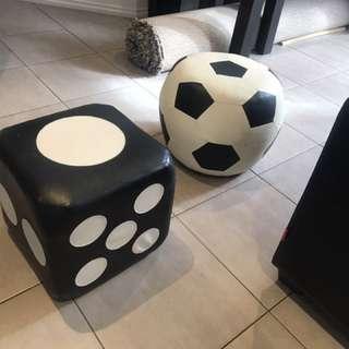 X2 puffs foot stools