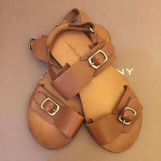 Zara Leather Sandals