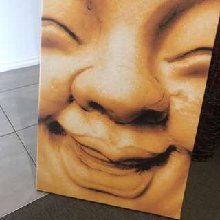 Buddha print canvas