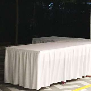 Rectangular Table with Skirting For Rent