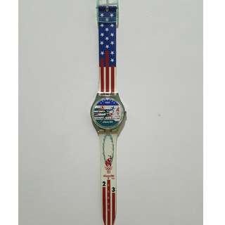 [二手]Swatch1996年亞特蘭大奧運紀念錶
