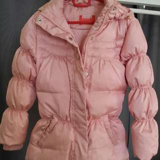 Hooded Winter Down Coat Parkas for Girl (Pink)