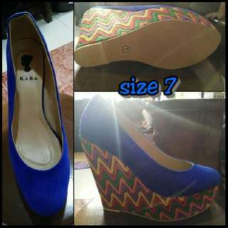 Wedge Shoes Blue size 7