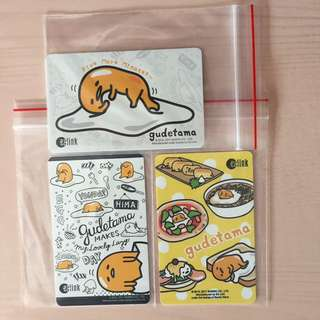 Brand New Limited Edition Gudetama New Series Set Of 3 EZ-Link Cards For Only $16.80