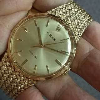 Rolex Precision 18k Solid Gold.