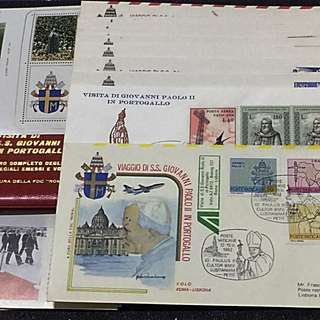 Vatican+Portugal 1982 Pope John Paul II Visit Set of 13 Commemorative Covers+ S/S NH+ 11 Printed Info Cards+ Folio