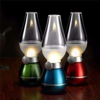 Sensor Function Blowing Control LED Retro Kerosene Lamp / USB Rechargeable LED Night Light / LED Portable Bedside Lamp