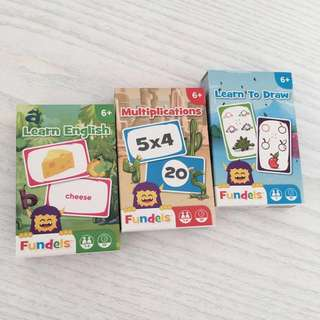 英國Fundels Educational cards學習咭 - set of 3