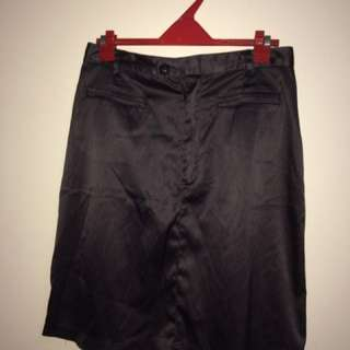 Black A line Satin skirt