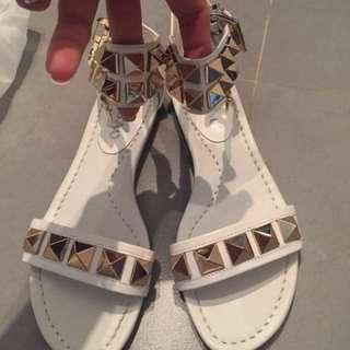 White female shoe