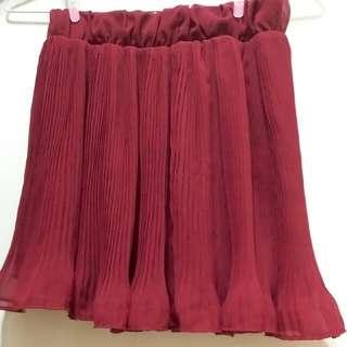 酒紅色魚尾裙