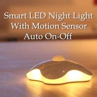 Four Leaf Clover LED Light Motion Sensor Night Light Lamp Battery Powered