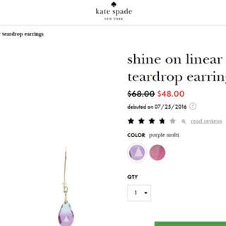 kate spade treadrop earrings