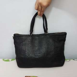 SALE Authentic See By Chloe Genuine Leather Tote Bag Snakeskin Design