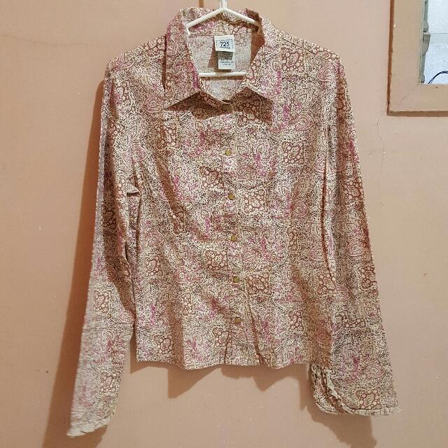 725 Originals Pink Patterned Long Sleeved Blouse
