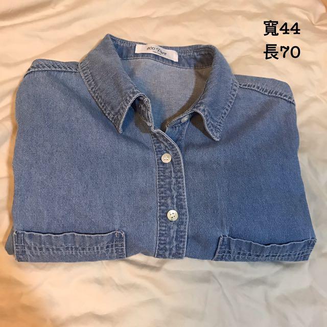 韓國製 牛仔襯衫