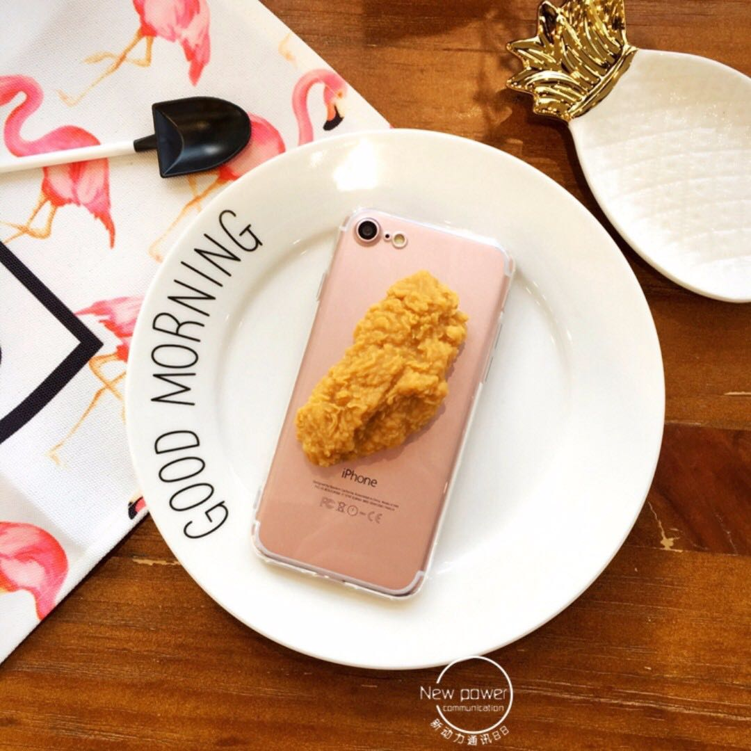 現貨 iphone6 plus/6s plus 手機殼 保護殼 仿真食物 雞翅 炸雞
