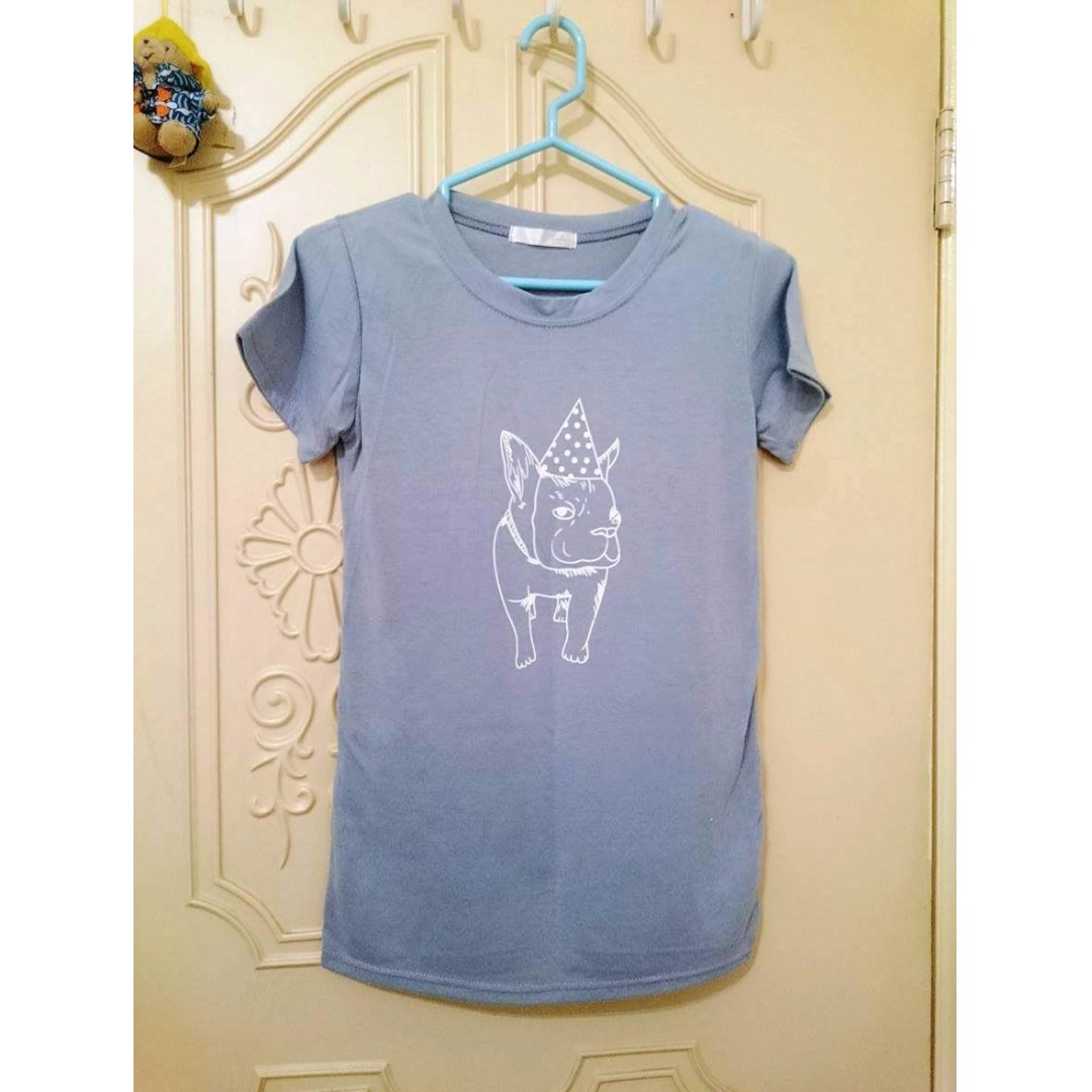 二手 LULUS 淺藍色法鬥微合身短袖上衣T恤
