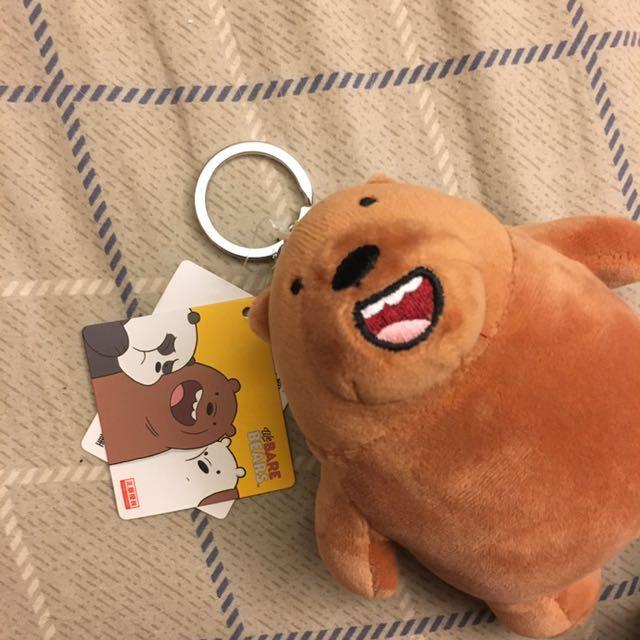 正版授權 we bare bears 棕熊 鑰匙圈