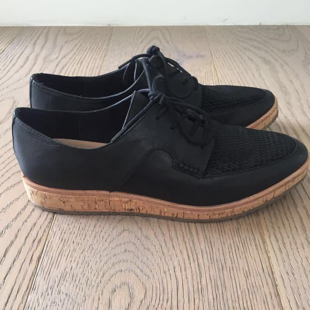 ALDO Leather Flatform Shoes Size 8/39