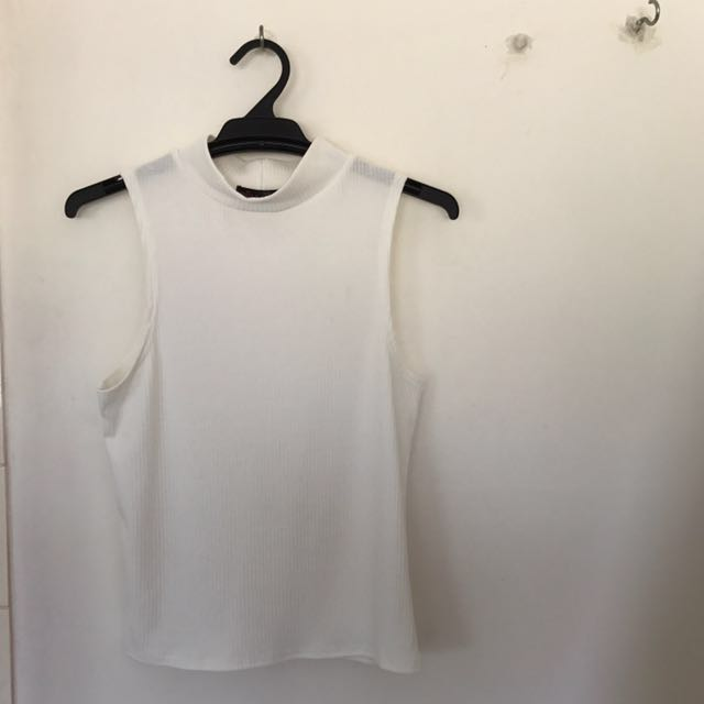 ally white top