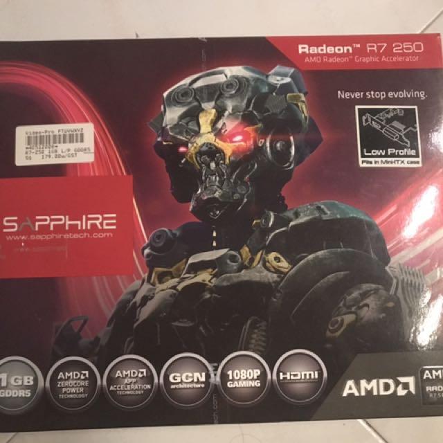 AMD R7 250 Low profile 1gb DDR5 graphics card