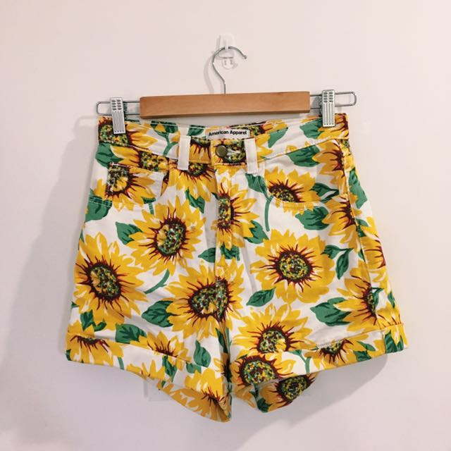 American Apparel Sunflower High Waisted Shorts