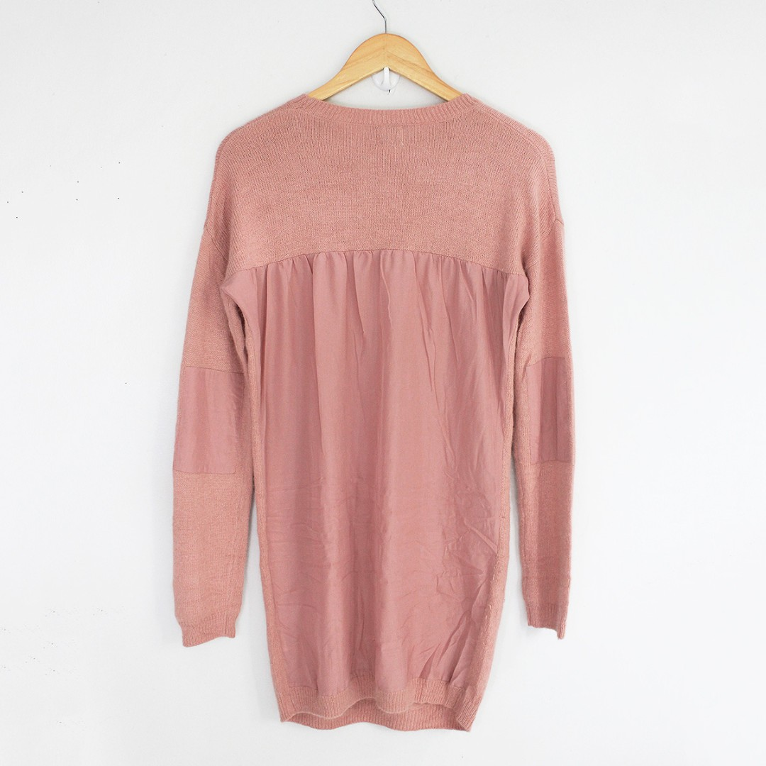 RESERVED] ASOS Dusty Pink Sweater Dress, Preloved Women's Fashion ...