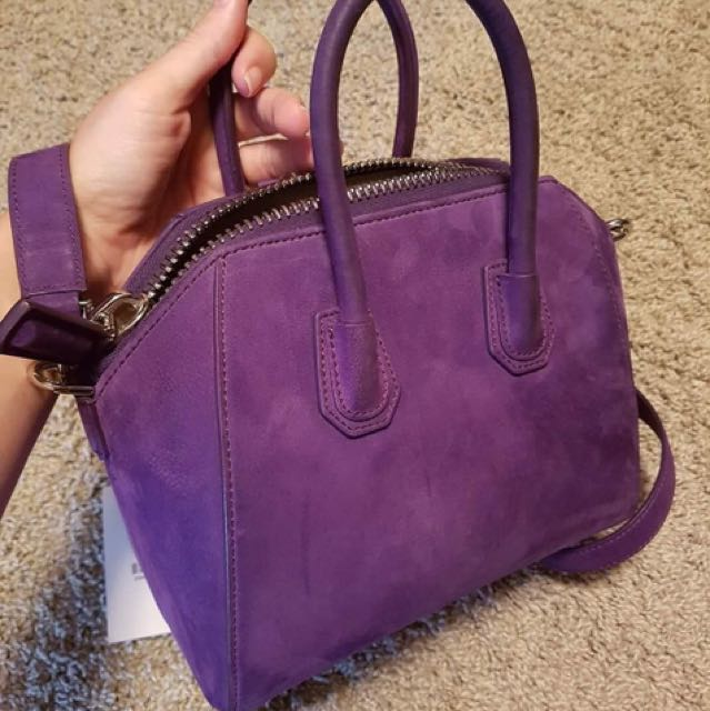 Authentic Givenchy mini suede